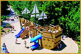 Pirate ship fantasy playground with Playwood