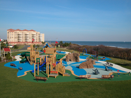 seven Presidents Park playground in Long branch New Jersey